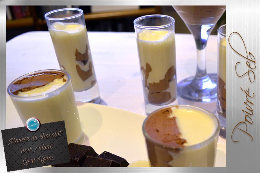 Mousse au chocolat noir et blanc Cyril Lignac principal