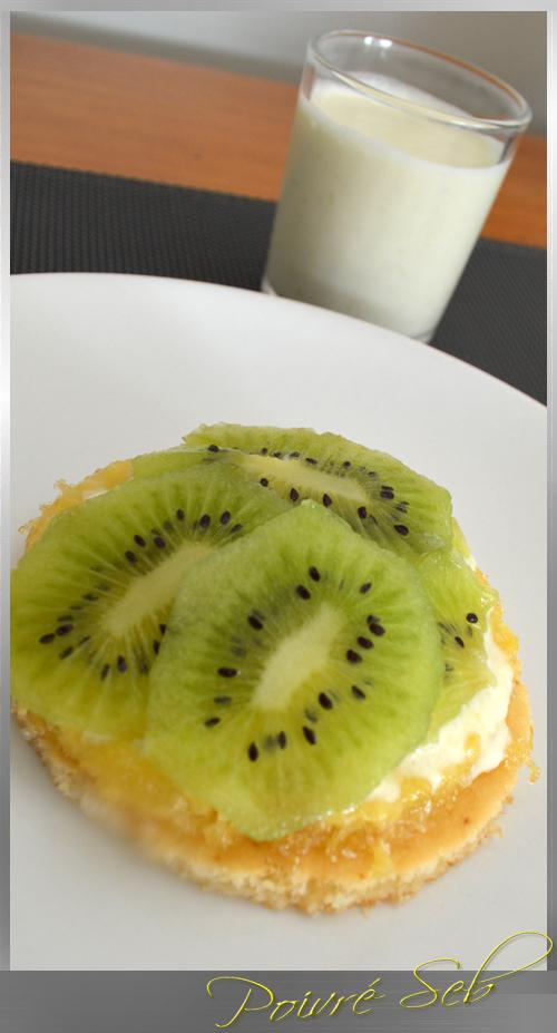 Tartelette exotique et lait de coco ananas en verrine_droit