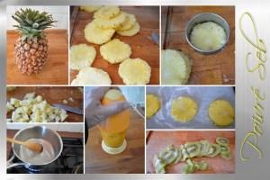 Tartelette exotique et lait de coco ananas en verrine_préparation 2