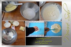 Tartelette exotique et lait de coco ananas en verrine_préparation