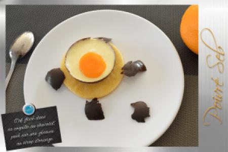 Œuf glacé dans sa coquille au chocolat_présentation