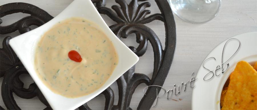 Sauce au fromage blanc persillé et sauce soja