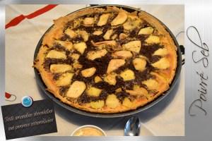Tarte amandine chocolatine aux pommes caramélisées