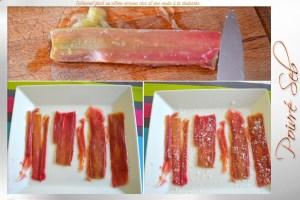 Entremet glacé citron rhubarbe Préparation