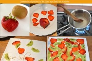 Carpaccio de fraises et de kiwis préparation