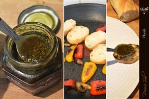 Préparation petits poivrons - toasts pesto pour l'apéro SWEET PUMPKIN