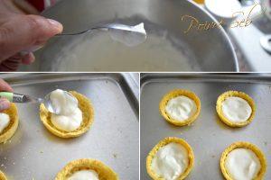 Tartelette aux fraises et framboises préparation crème fouetée