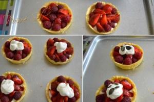 Tartelette aux fraises et framboises préparation garnitures