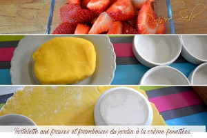 Tartelette aux fraises et framboises préparation