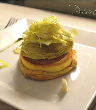 Brandade rose et son crumble de pain au citron
