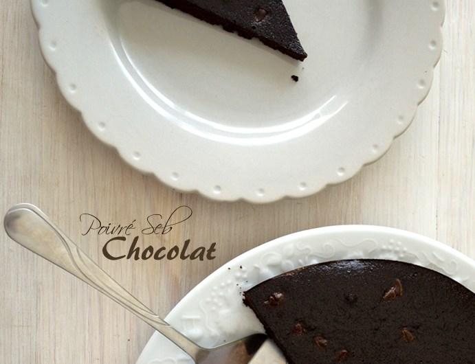 Fondant au chocolat noir intense et ses pépites