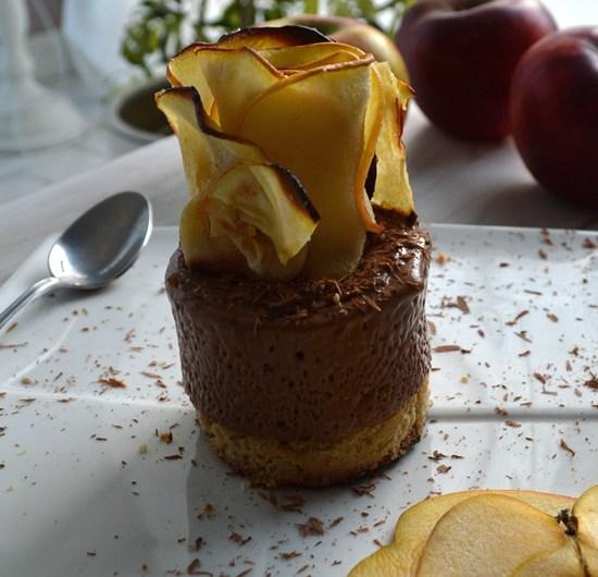 Délice chocolaté aux pommes printanières