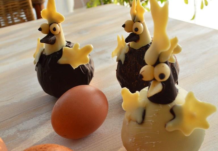 Poules quatre-quarts au chocolat