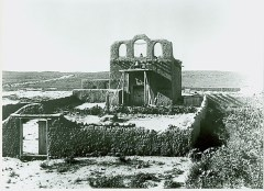 18th century mission church of Pojoaque Pueblo in 1899 (Photo by Vroman)
