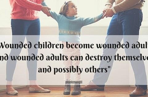 Wounded children, broken home, divorce