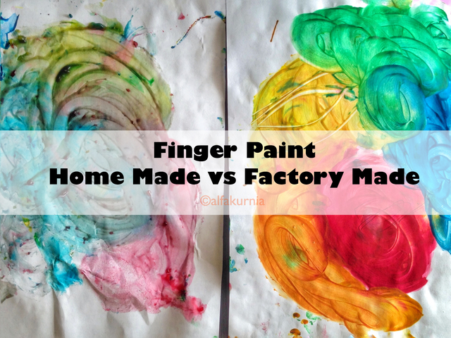 Finger Paint: Homemade vs Factory Made