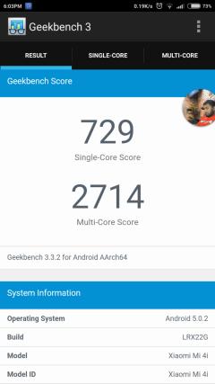 Geekbench 3 Performance mode
