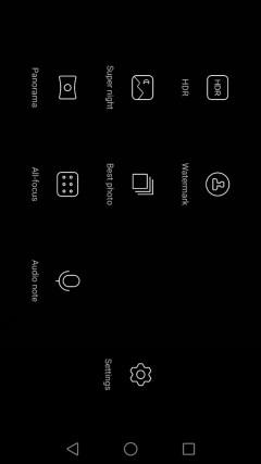 camera modes Huawei P8