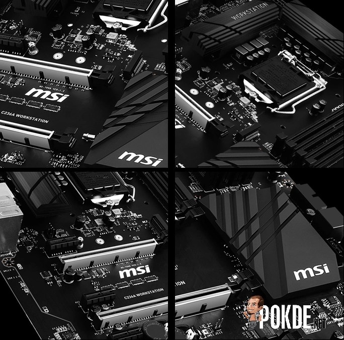 MSI readies two MSI C236 workstation motherboards — harness