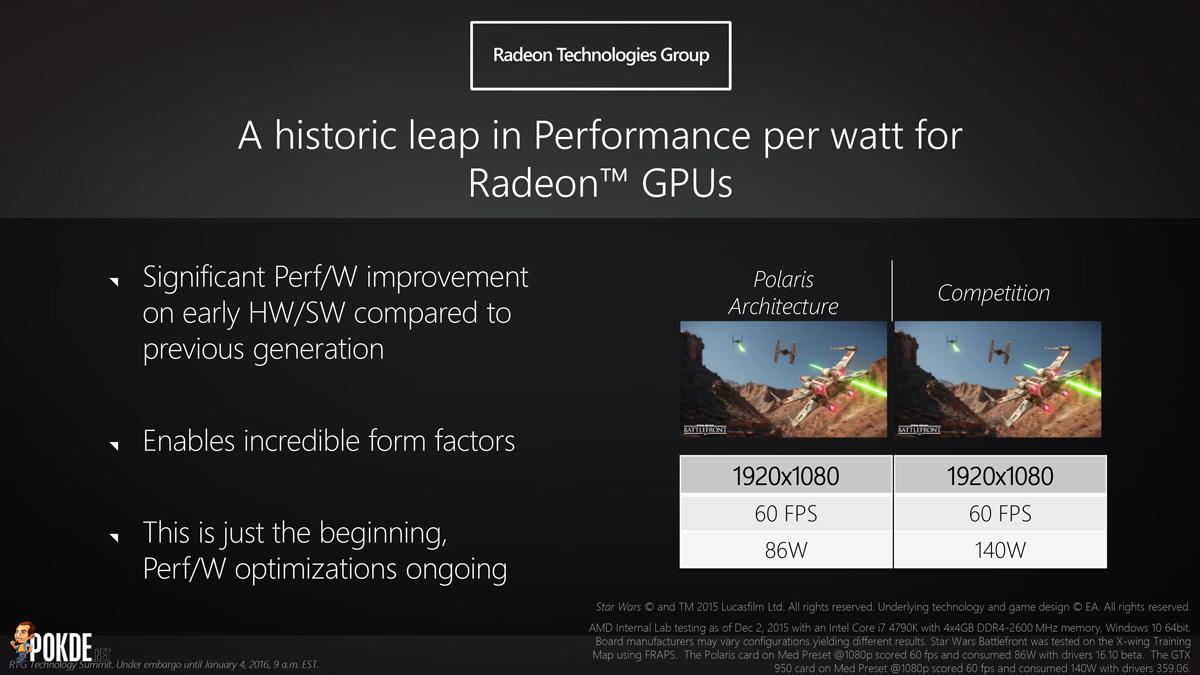 AMD Polaris 10 benchmarks leaked — matches R9 390X – Pokde