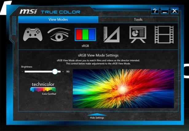 MSI PE60 True Color