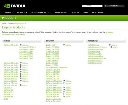 NVIDIA Maxwell legacy product