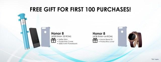 Honor 8 - First 100 buyers giftpack (Custom)