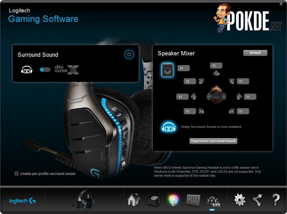 Logitech G633 Artemis Spectrum, RGB 7.1 surround gaming headset ...