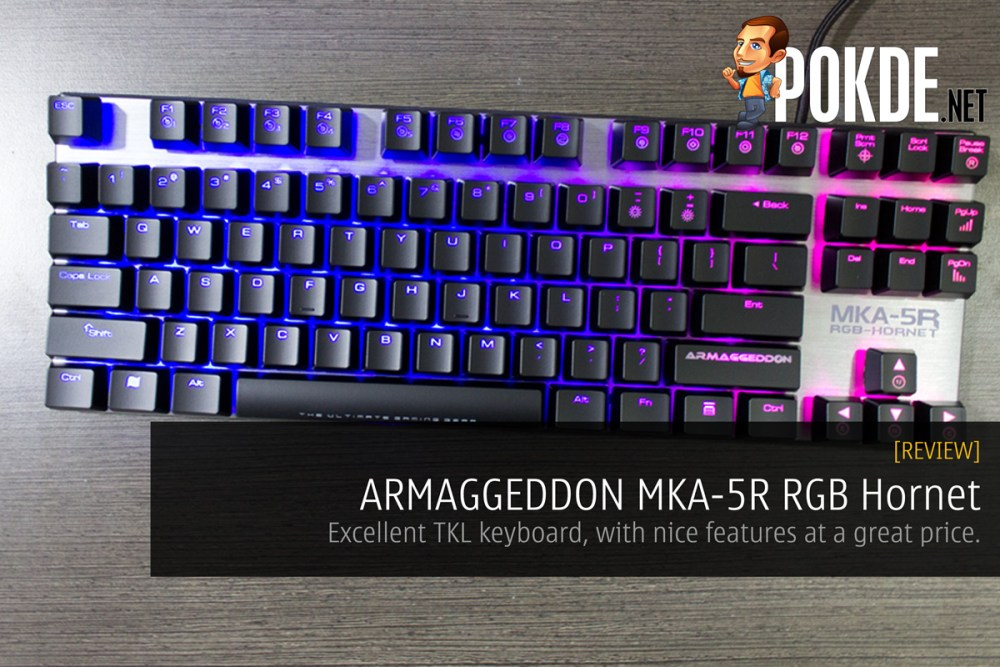 ARMAGGEDDON MKA-5R RGB Hornet mechanical keyboard review 21
