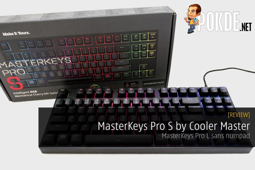 MasterKeys Pro S mechanical keyboard review – Pokde