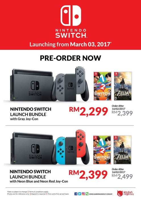 nintendo switch launch pre-order