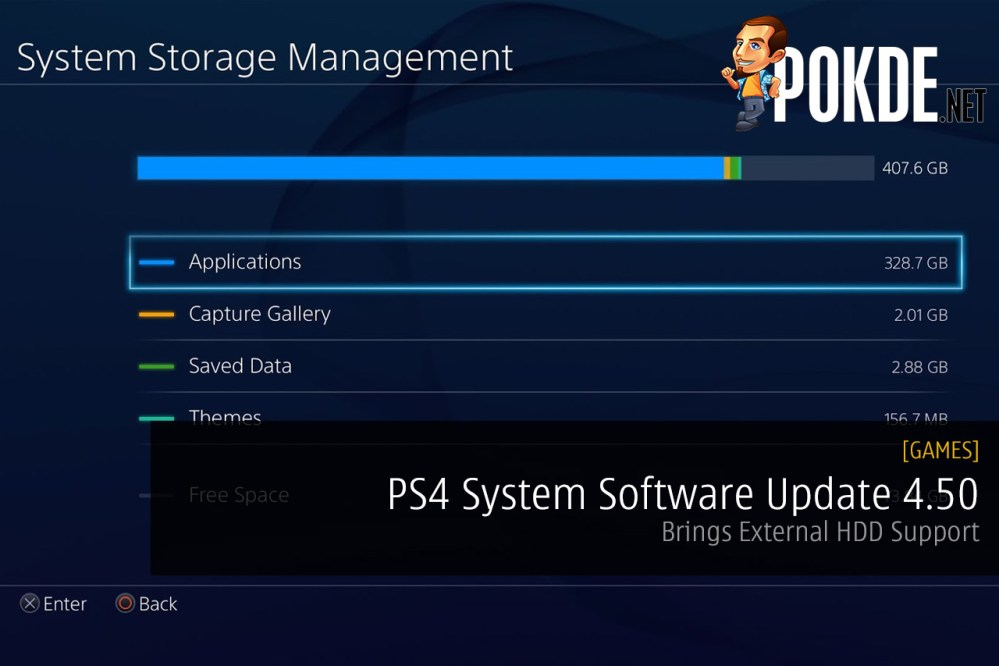 PS4 System Software Update 4.50