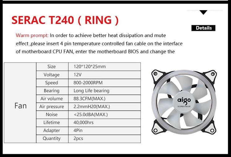 Aigo Serac T240 AIO Liquid Cooler Review - Bigger radiator, better heat dissipation 32