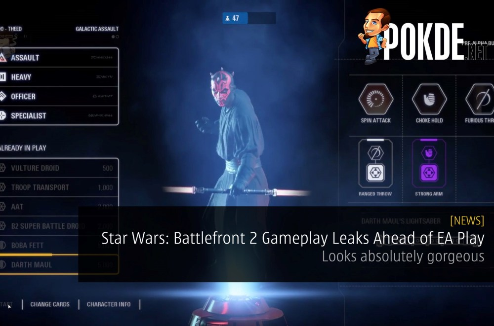 Star Wars: Battlefront 2 Gameplay Leaks Ahead of EA Play