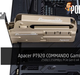 Apacer PT920 COMMANDO Gaming SSD; 2500/1350MBps PCIe Gen3 x4 announced 29