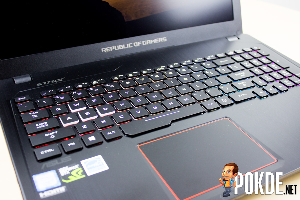 Asus Rog Strix Gl553 Review Deadly Subtle Machine Pokde Ve The Has A Chiclet Gaming Keyboard That Uses Scissor Switch Keys Offering 25mm Key Travel Distance So You Can Really Feel Your