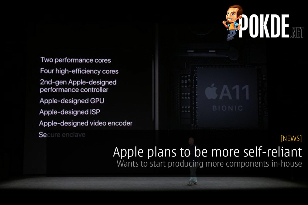 Apple plans to be more self-reliant; wants to start producing more components in-house 32