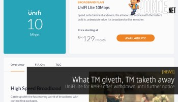 UPDATE: No more love for Streamyx] TM offers promotions on UniFi and