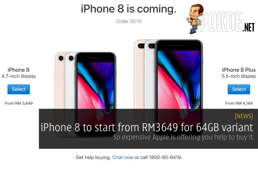 iPhone 8 to start from RM3649 for 64GB variant; so expensive Apple is offering you help to buy it 34