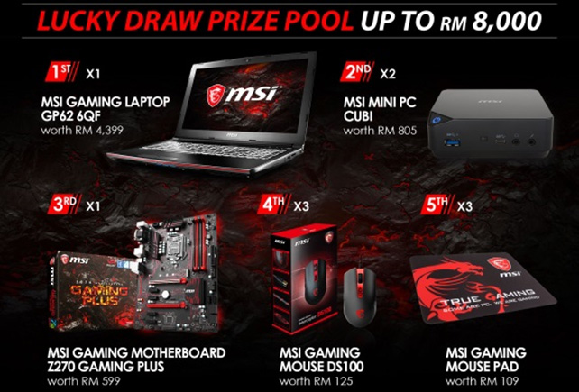 MSI Grand Opening Lucky Draw CeREbration