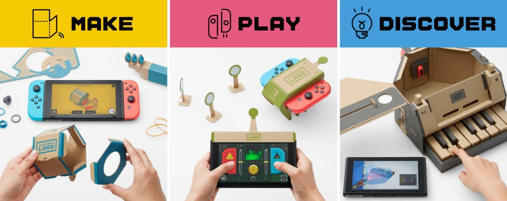 Introducing the New Nintendo Labo DIY Cardboard Toys for Nintendo Switch
