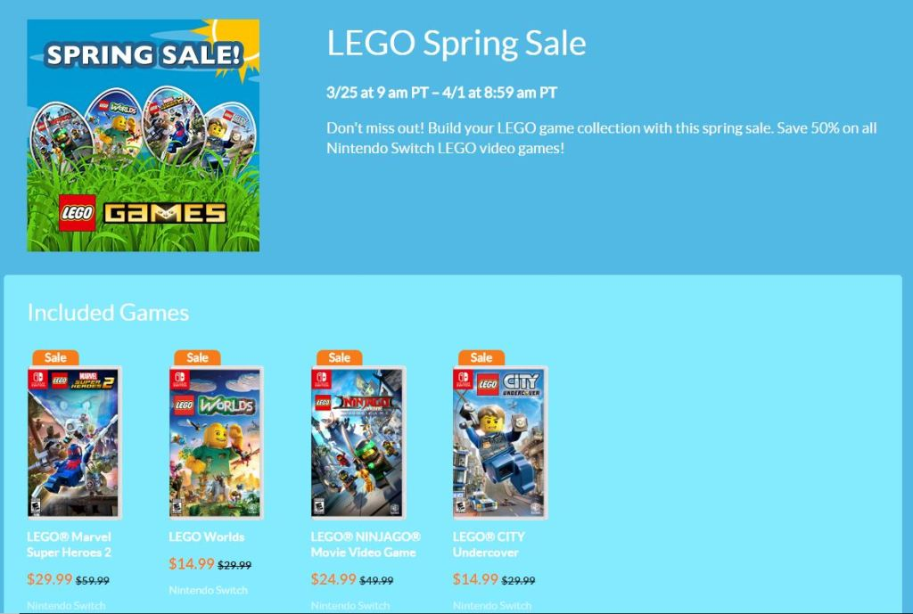 LEGO Games on Sale for Nintendo Switch