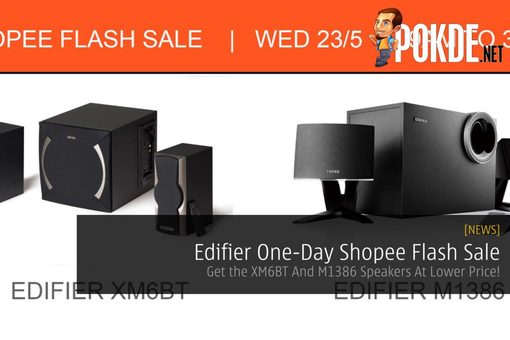 Edifier One-Day Shopee Flash Sale - Get the XM6BT And M1386 Speakers At Lower Price! 17