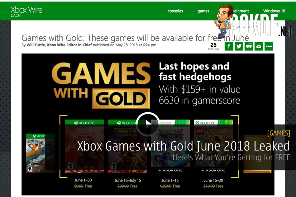 Free Games With Gold June 2020.Xbox Games With Gold June 2018 Leaked Here S What You Re