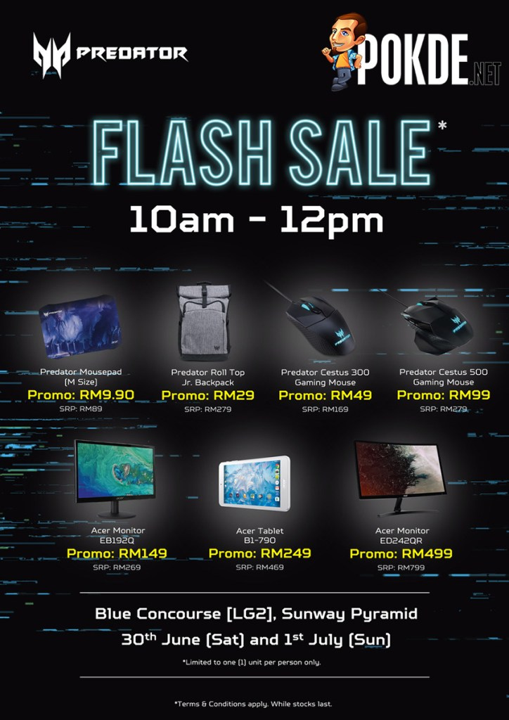 The flash sale at Predator's roadshow is just insane — up to 90% off selected products! 28