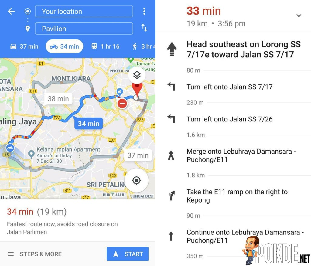 Google Introduces New \'Motorcycle Mode\' For Google Maps in Malaysia ...