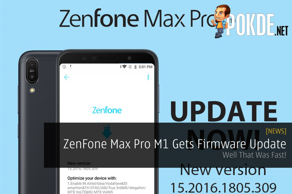 ZenFone Max Pro M1 Gets Firmware Update — Well That Was Fast
