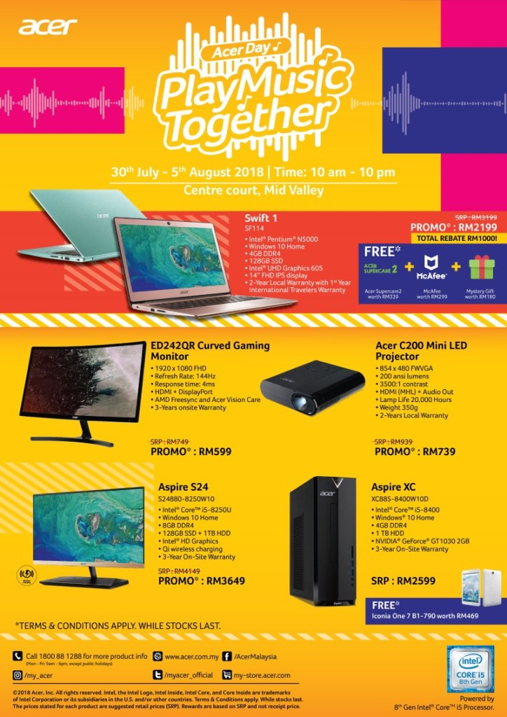 Acer Day Play Music Together Promo — Deals Include A 144hz Curved Gaming Monitor For Just RM599! 18