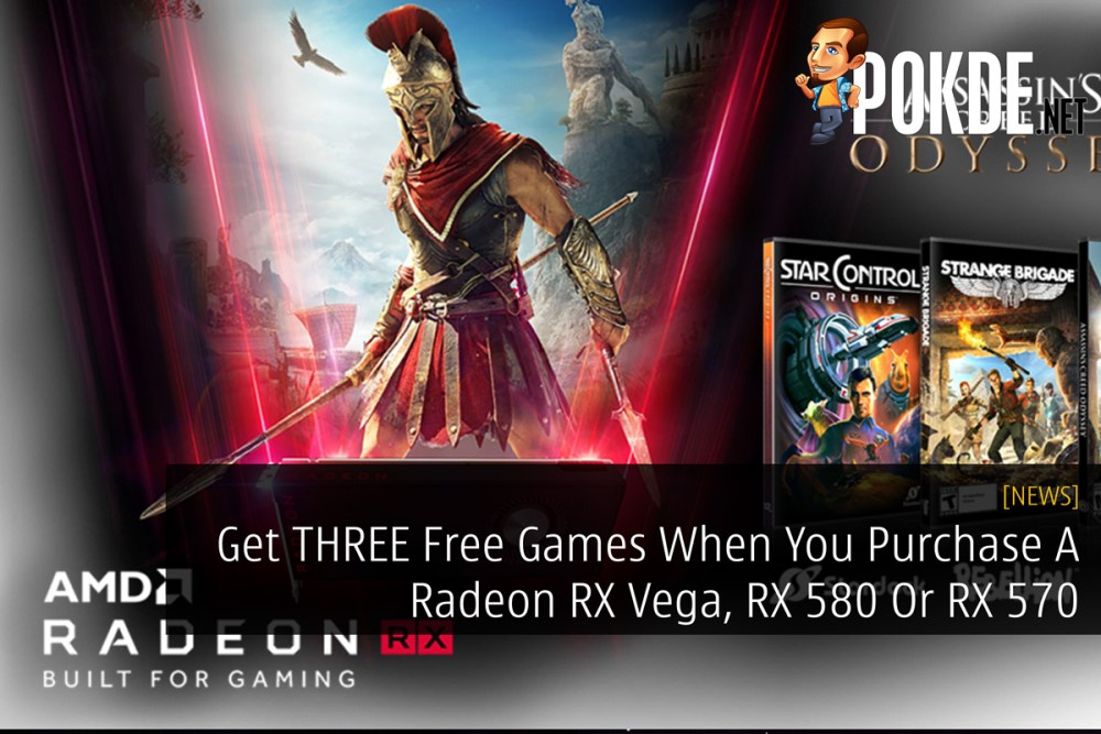 Get THREE Free Games When You Purchase A Radeon RX Vega, RX 580 Or