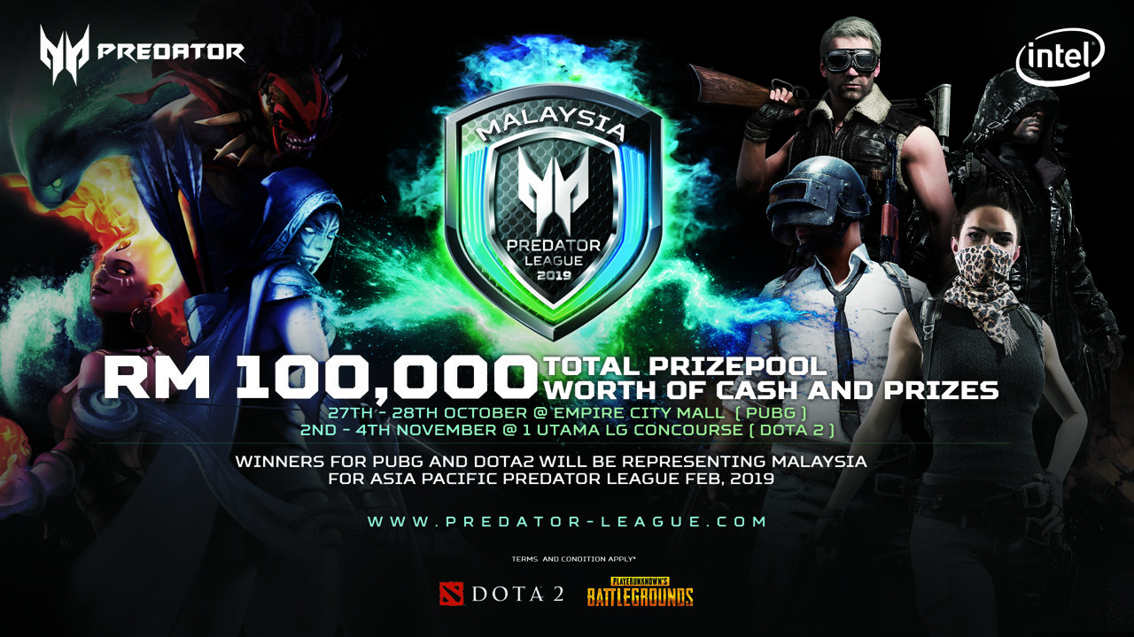 Acer To Host Asia Pacific Predator League 2019 — Qualifiers for Dota